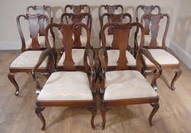 mahogany dining chairs chippendale balloon back victorian regency