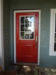 front glass doors for home red front door as surprising door design for modern home amaza