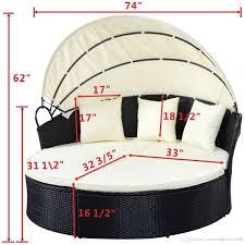 best outdoor rattan wicker round bed outdoor wicker lying bed