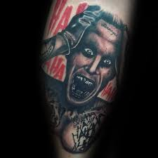 90 joker tattoos for men iconic villain design ideas cool swag