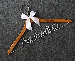 Wooden Wedding Gifts Amazon Com Wood Wedding Hangers Lser Engraved Custom Personalized