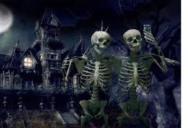 dia de los muertos v halloween by ehunt