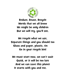 reduce reuse recycle poem ideas for pinterest large size