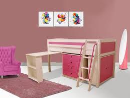lit combiné bureau enfant lit combiné swann bois commode bureau 90x190 cm