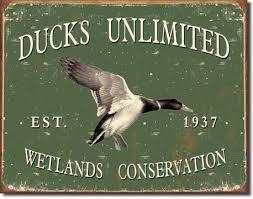 forever friends ducks unlimited tin sign