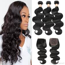 hairstyles with body wave hairnfor 60 3 bundles brazilian body wave with closure wavy weave human hair