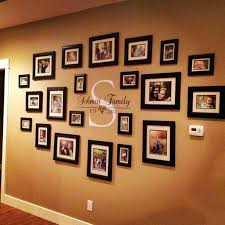 family picture wall use thaw wooden letter k and vinal to write
