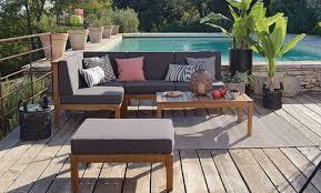 canape angle jardin salon de jardin et terrasse au bord de la piscine 5 idées pour
