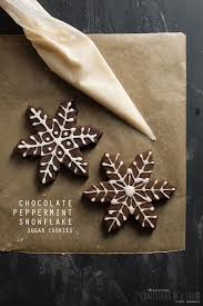 snowflake sugar cookies confessions of a foodie chocolate peppermint snowflake sugar cookies