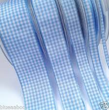 gingham ribbon pale blue gingham ribbon several sizes 40mm 25mm 15mm 10mm 5mm