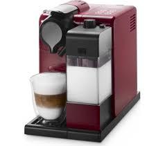 delonghi magnifica red light buy nespresso by de longhi lattissima touch en550 r coffee machine