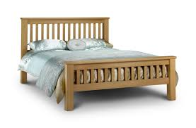 Solid Bed Frame King King Size Oak Wood Bed Frame And Headboard Plus Low Footboard