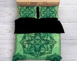 dream catcher hippie bedding set watercolor duvet to