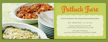 potluck lunch invitation beautiful potluck card