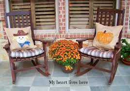 Fall Outdoor Pillows by October 2013 My Heart Lives Here