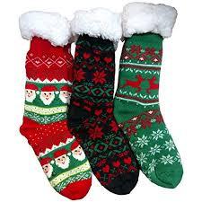 fuzzy christmas socks christmas printed socks colorful festive crew knee high