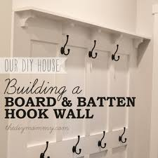build a board u0026 batten diy hook wall the diy mommy