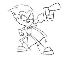 teen titans robin coloring pages google coloring