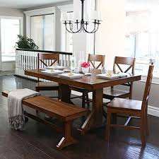 distressed wood dining tables amazon com