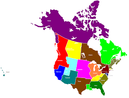 Map Of Canada And Alaska by Of Usa And Canada With States And Provinces