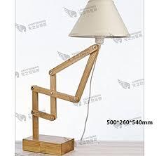 Adjustable Arm Lamp Pinwei Natural Wood Table Lamps Height Adjustable Desk Lamp
