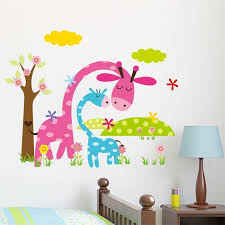 cartoon animal forest wall stickers decals for nursery and kids