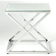 bout de canapé m table bout e en v de canape verre ambiance design