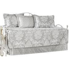 laura ashley home venetia gray 5 piece twin daybed quilt set by