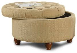 what size is this tufted tan and cream tweek round storage ottoman