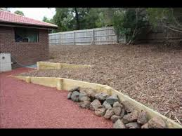 building timber retaining walls melbourne 1800 466 815 youtube