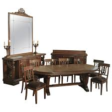 rustic large dining room table chair set for 10 people formal