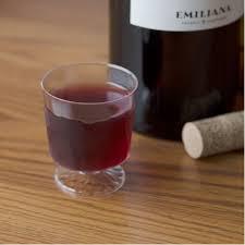amazon com 80 count disposable mini wine glass 2 oz plastic clear