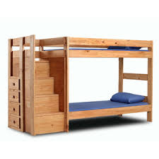 Solid Wood Twin Twin Bunk Bed With Stairs  PC  Idollarstorecom - Solid oak bunk beds with stairs