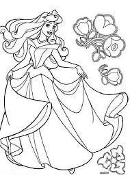 disney princess aurora sleeping beauty coloring color luna