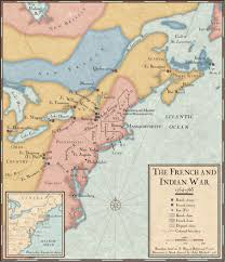 Geographical Map Of The United States by The French And Indian War National Geographic Society