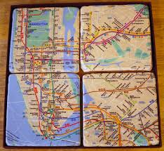 Subway Nyc Map Nyc Subway Map Coasters Gift Man