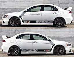 mitsubishi ralliart mitsubishi ralliart bomb stripes stickers mivec sports infinity270
