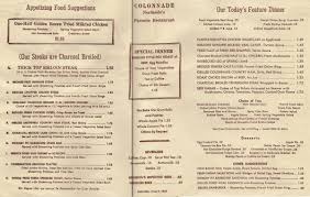 the colonnade restaurant about