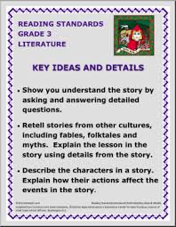 poster 3rd grade key ideas and details common core reading
