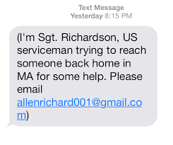 Seeking Text Message Chicopee Warn Of Potential Scam Via Text Or Email From Sgt
