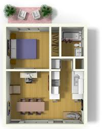 small floor plan small apartment design for live work 3d floor plan and tour