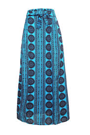 flowy maxi skirts fashion blue bohemian style flowy maxi skirt