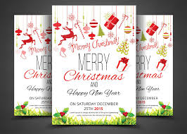 christmas party flyer u0026 invitation flyer templates creative market