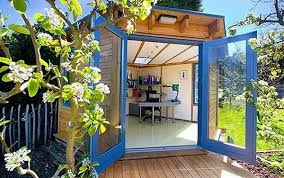 Backyard Offices Shedquarters Backyard Office Ideas Shed Office Ideas She Sheds
