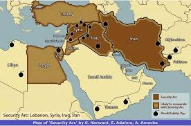 A Map Of The Middle East by A U201csecurity Arc U201d In The Middle East Mato U0027s Blog