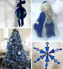Christmas Tree With Blue Decorations - blue christmas tree decorating ideas adding cool elegance to