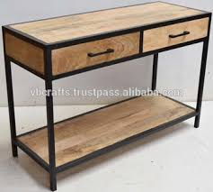 industrial coffee table with drawers industrial console drawer table buy antique console table