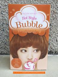 sachets of hair colours 2015 review etude house hot style bubble hair coloring or8 sweet