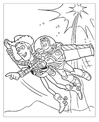 woody buzz lightyear flying coloring pages coloringstar