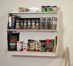 Spice Rack Wall Mount Wood Handmade Spice Rack Or Wall Shelf In Color Of Your Choice Wooden